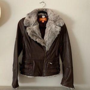 *RARE* Michael Kors Leather Bomber Jacket